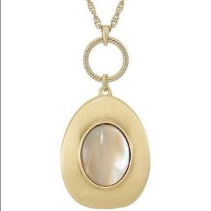 Lucky Brand Champagne Mother Of Pearl Necklace